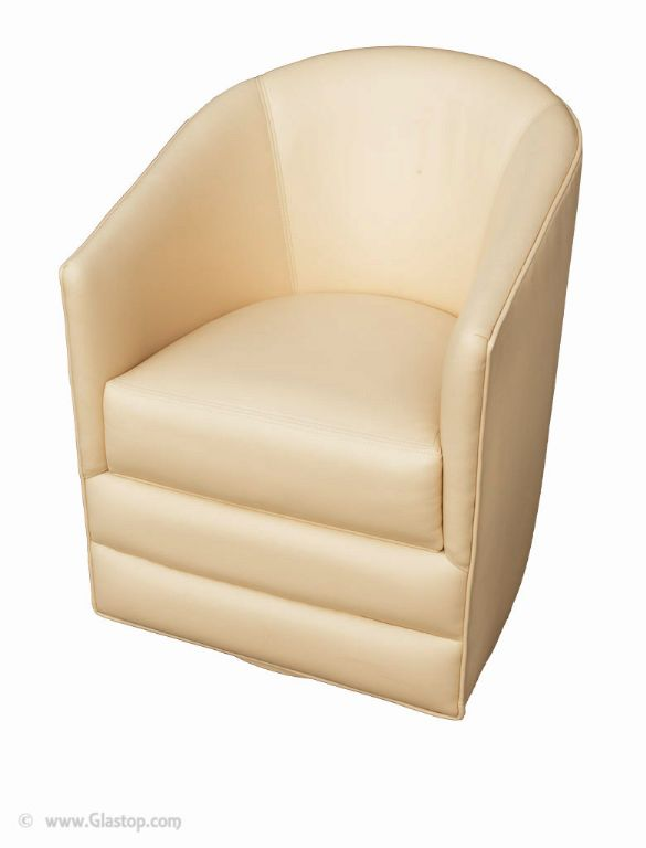 24bl Barrel Chair Ultraleather Silk Floor Model Closeout
