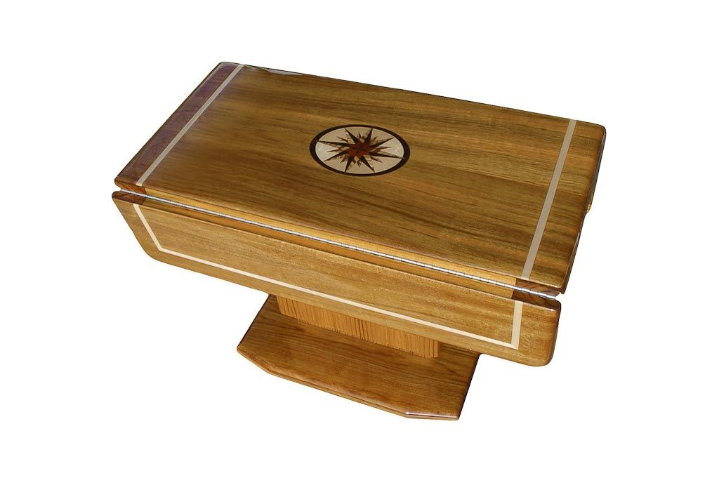 Mariner MAR 3232 Hi-Lo Marine Teak Table